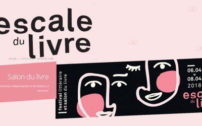Escale du livre, Bordeaux 6, 7 et 8 avril 2018