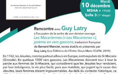 """""""Les Macariennes"""", présentation par Guy Latry"""